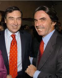"""Pedro J. Ramínez con su """"aliado"""" José M. Aznar"""