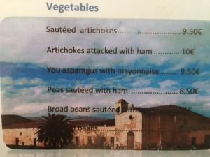 """El menú de la Islela del Moro luce el Cortijo del Fraile. """"En mi tierra, ese cortijo sería un museo"""", dijeron mis amigos yanquis."""