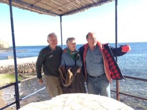 Con Shawn y Courtnay Worthington, en la Isleta del Moro.