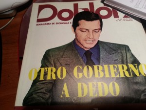 Portada del semanario DOBLON, 10-16 de Julio de 1976. Nadie dada un duro por Suárez.