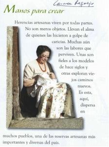 """Carmen Requejo, bordadora de pájaros que representan a """"la mujer enamorada""""."""