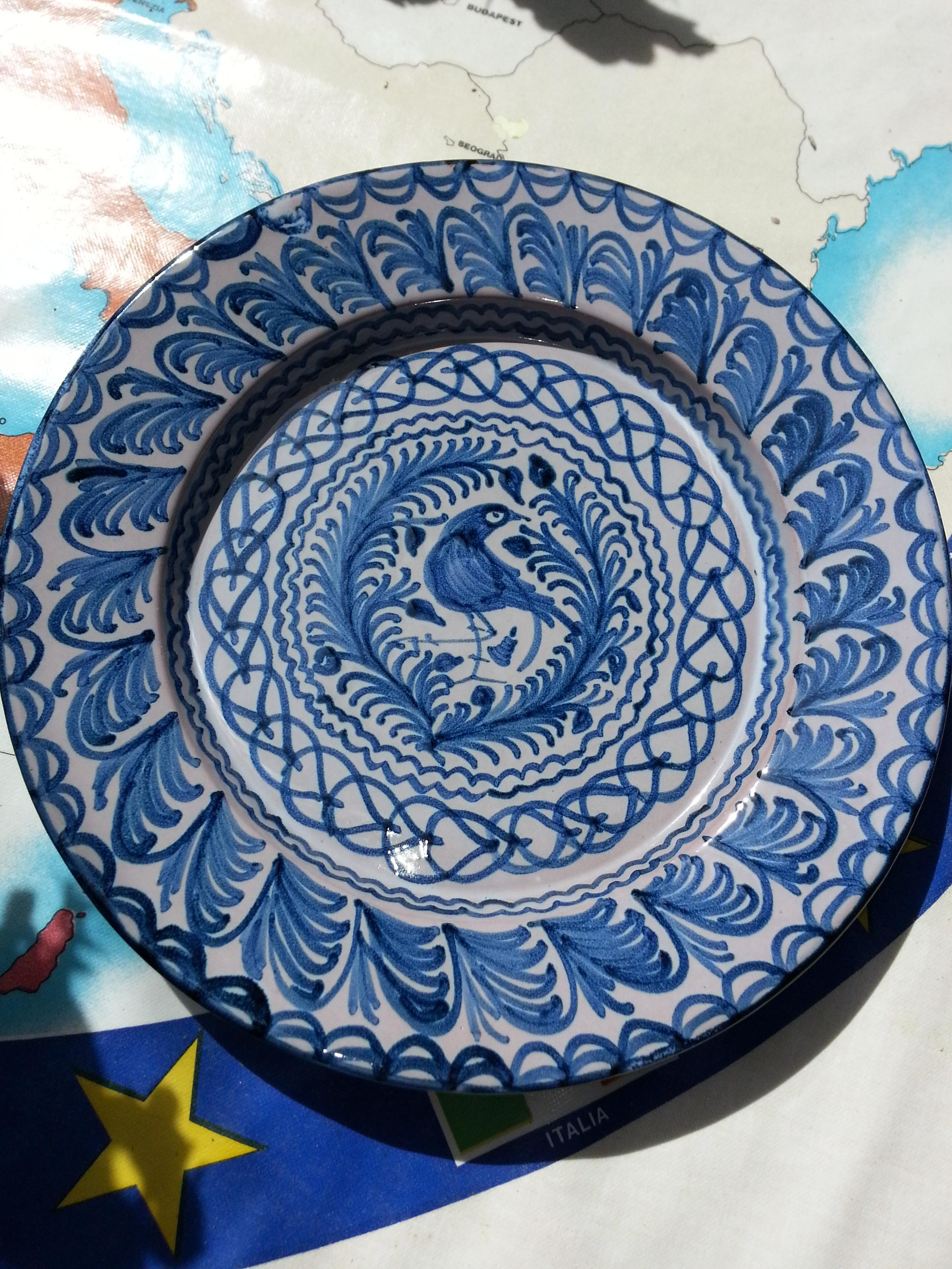 Pajaro en cerámica de Granada