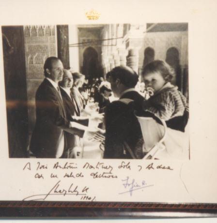 Foto del Rey dedicada a mi hija Andrea (que llevo a hombros)
