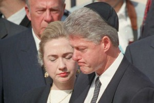 Bill Clinto llora la muerte de Rabin