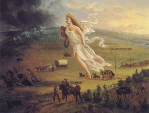 Destino manifiesto de EE.UU. John Gast, 1872
