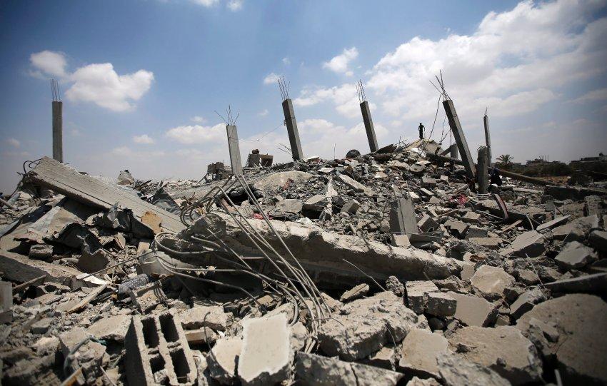 Estado de un barrio de Gaza por donde pasaron las bombas de los colonialistas israelíes.