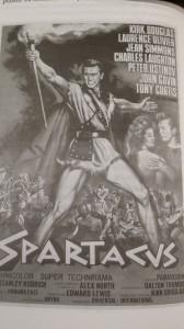 """Cartél de Espartaco, donde aparece el perseguido Dalton Trumbo como guionista. Fue el fin de la listas negras dela """"inquisición"""" norteamericana"""