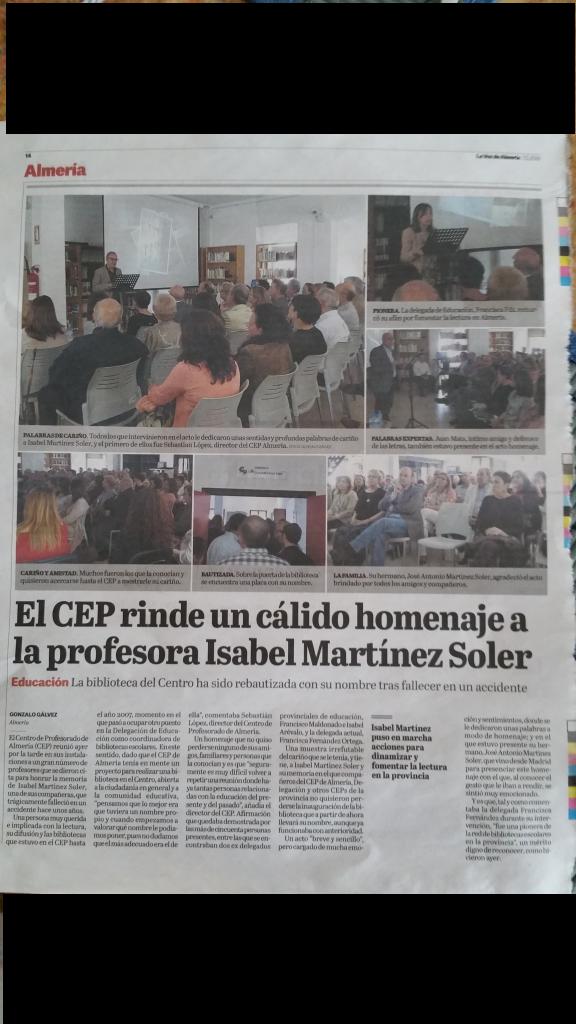 La Voz de Almería, 7 de mayo 2016