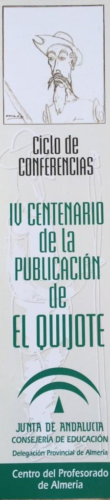 Marca páginas con el Quijote que dibujó mi hijo David en el mantel de papel del Hospital de Torrecárdenas.