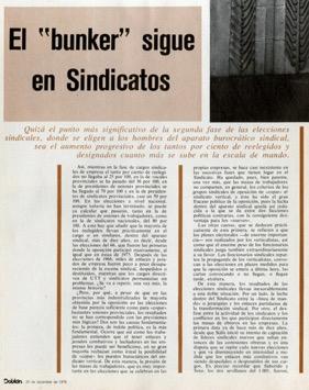 """Pusimos de moda la palabra """"bunker"""", en febrero de 1975, con Franco vivo."""