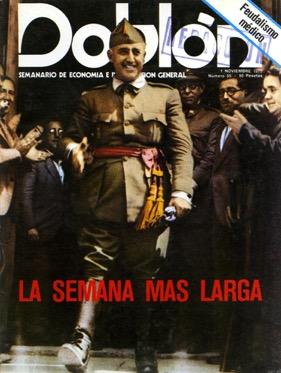 Portada de Doblón. 1 de noviembre 1975