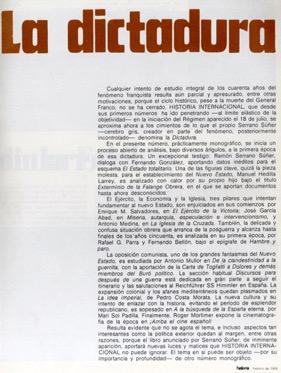 La primera vez que se aplicó al régimen la palabra Dictadura (Feb. 1976)