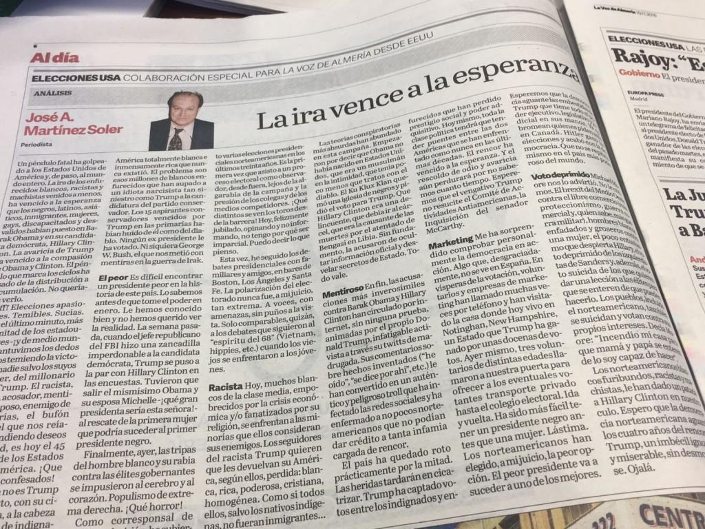 Página de la Voz de Almería 9-11-16
