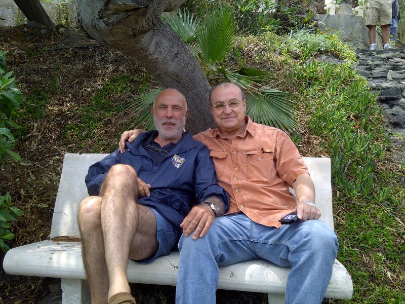 Zvi Dor Ner y yo en su última visita a nuestra casa en Almería.